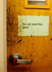 do not lock this door